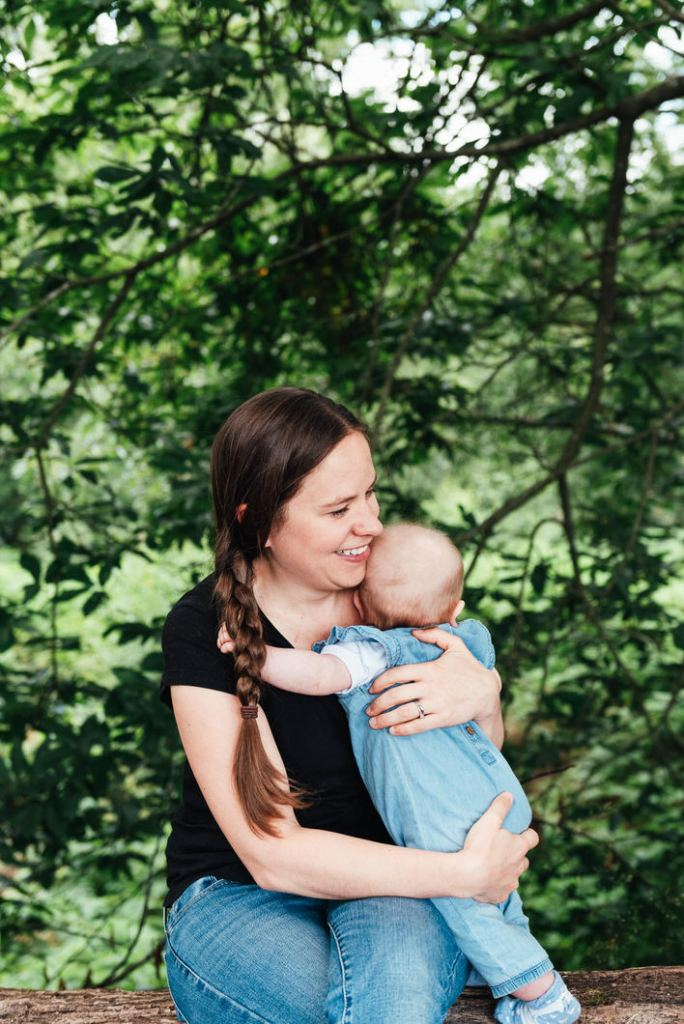 Mother and daughter portrait, outdoor newborn photography