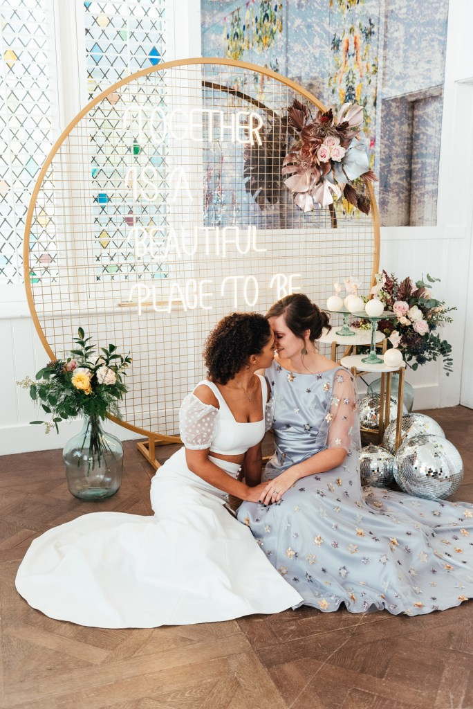 Modern and beautiful styled lgbtq wedding photography