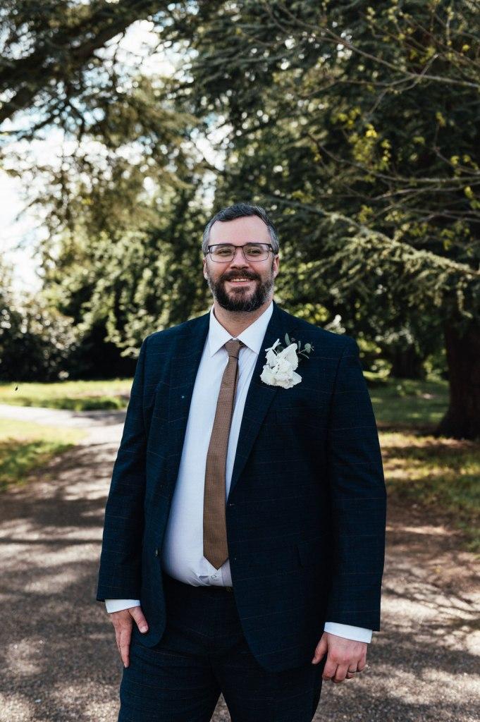 Relaxed Groom Portrait Weybridge Wedding Photography