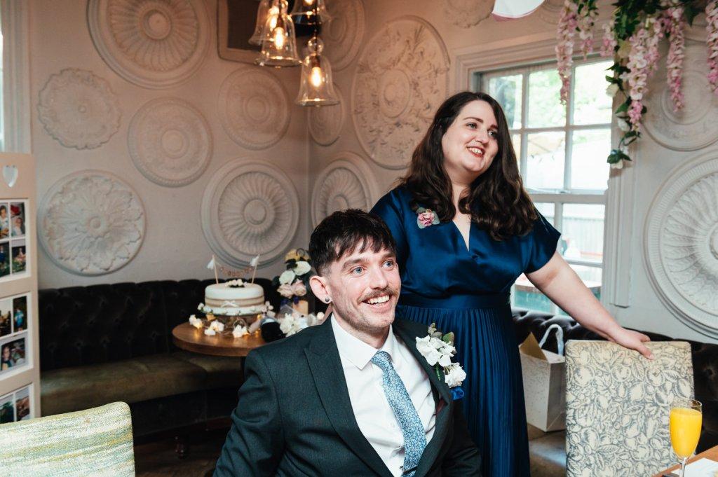 Intimate surrey Wedding Speech Reactions