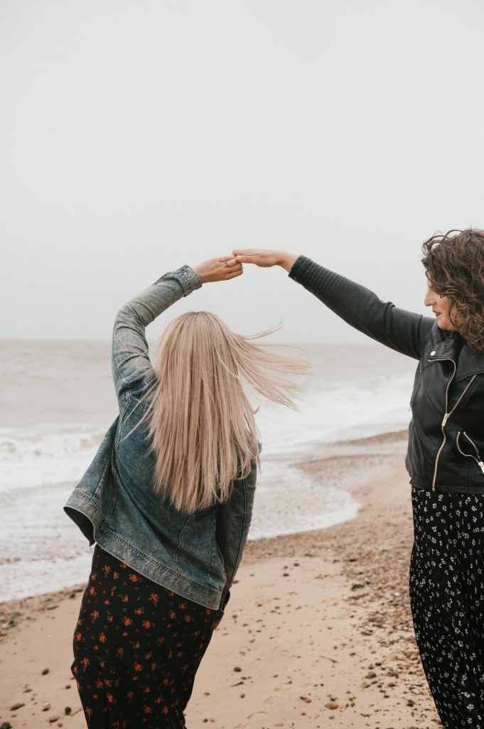 Dancing on The Beach, Creative Engagement Photography