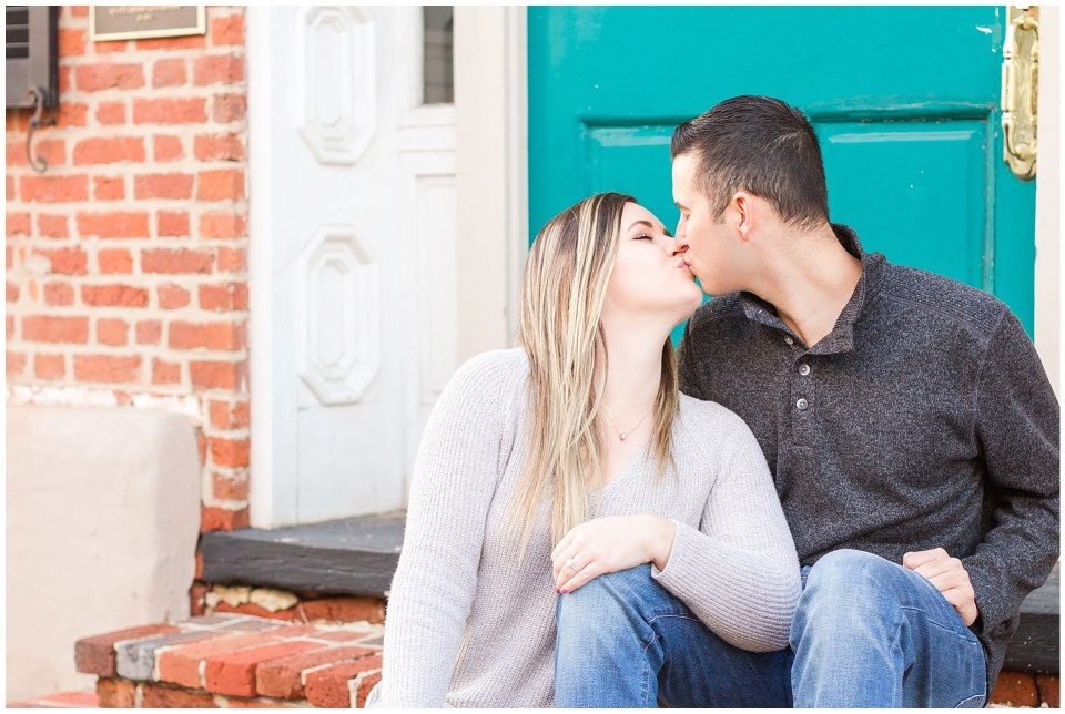 Engagement Session Photo in Downtown Leesburg Virginia