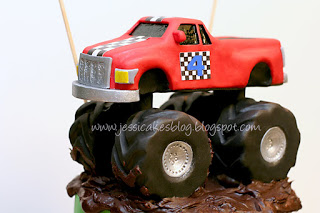 Monster truck the completed cake part 3 or 3 jessica for Digger cake template