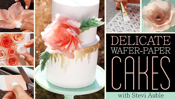 Wafer paper flowers tutorial video jessica harris cake design while i was in denver filming my third craftsy class i saw these cakes personally and was blown away they are stunning sophisticated and simple but mightylinksfo