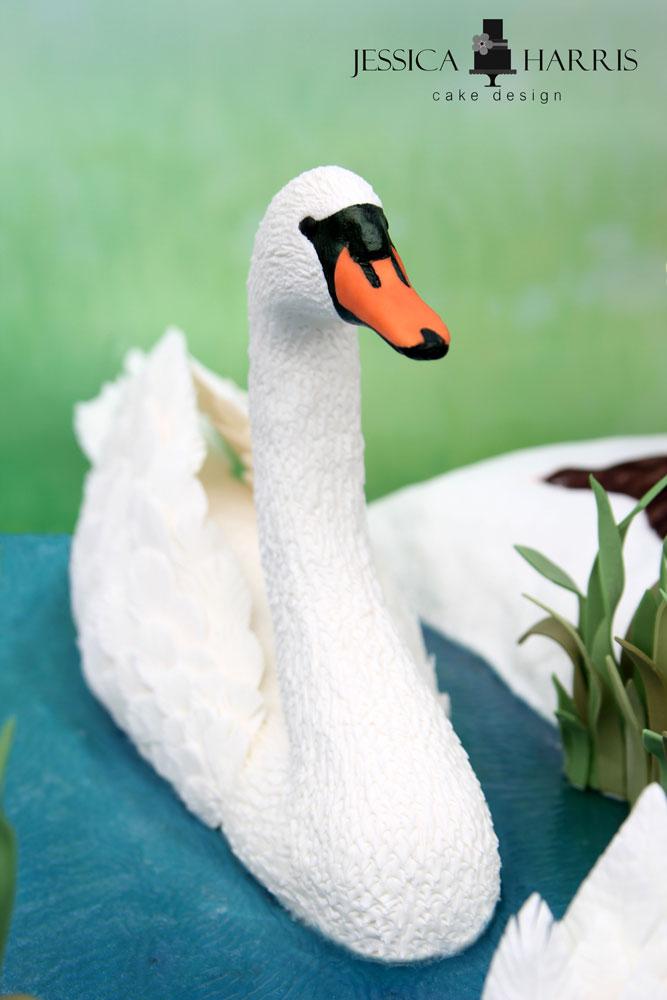 How To Make An Edible Swan Cake FREE Tutorial