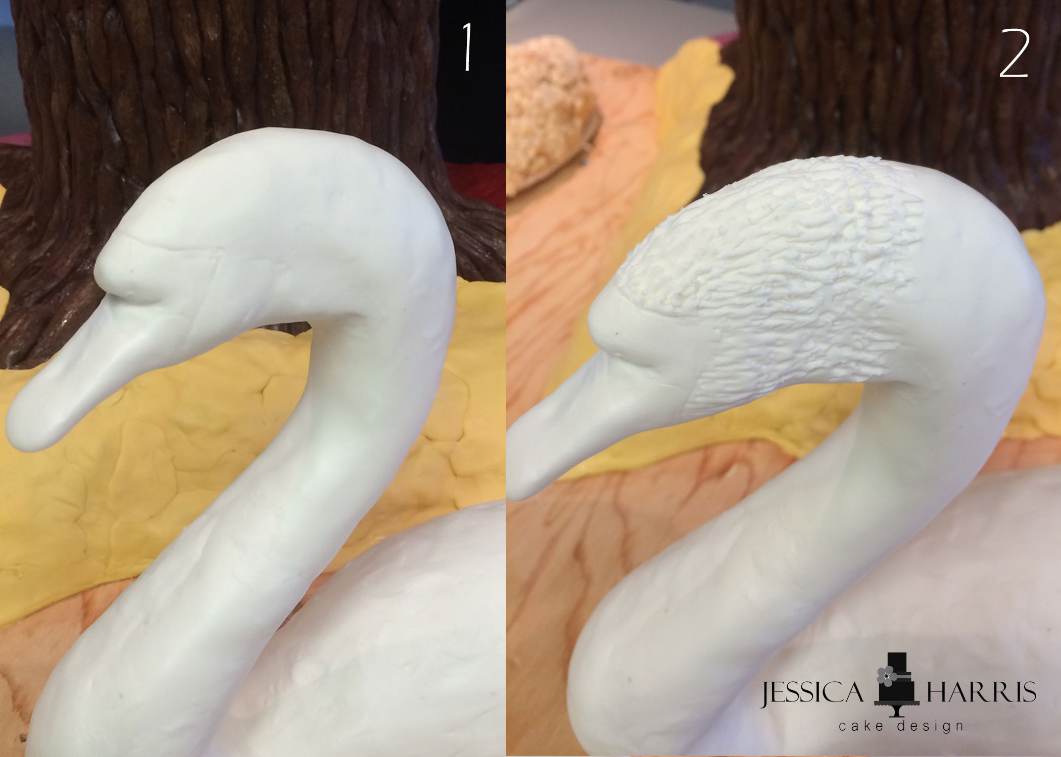 How to make fondant feathers youtube - Before I Started The Texture I Took A Veining Fondant Tool And Drew Out Where The Black Head Eyes Beak Would Be Going This Helped Me Know Where To Start