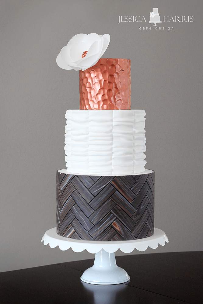 Full-Copper-Herringbone-Cak