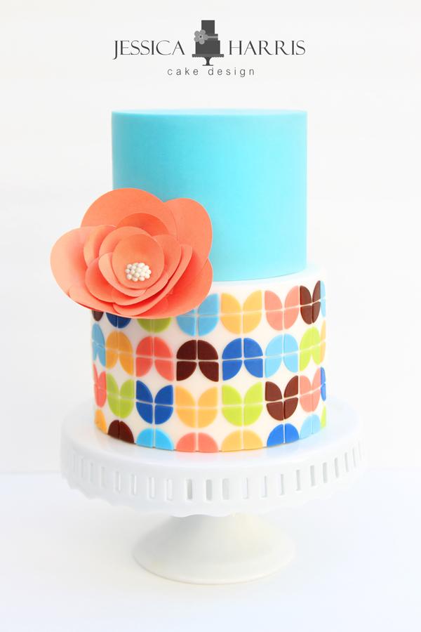 Quarter Round Flower Petal Cake Template 3 Designs Jessica