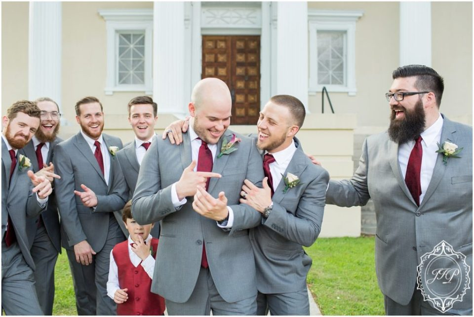 Elegant Southern Charcoal and Maroon Wedding_0018
