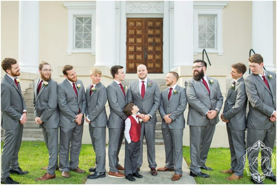 Elegant Southern Charcoal and Maroon Wedding_0128