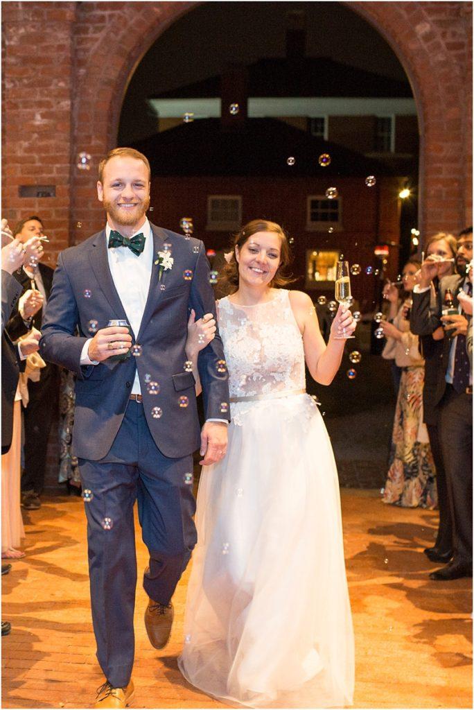 Bubbles at wedding reception
