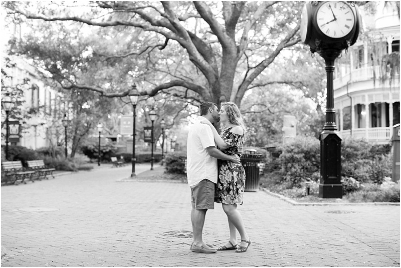 Charleston SC engagement photo College of Charleston