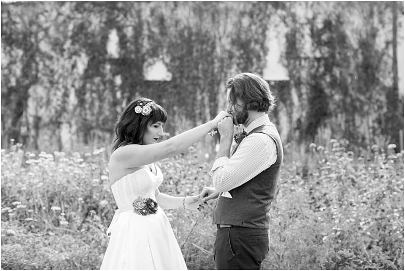simple backyard wedding