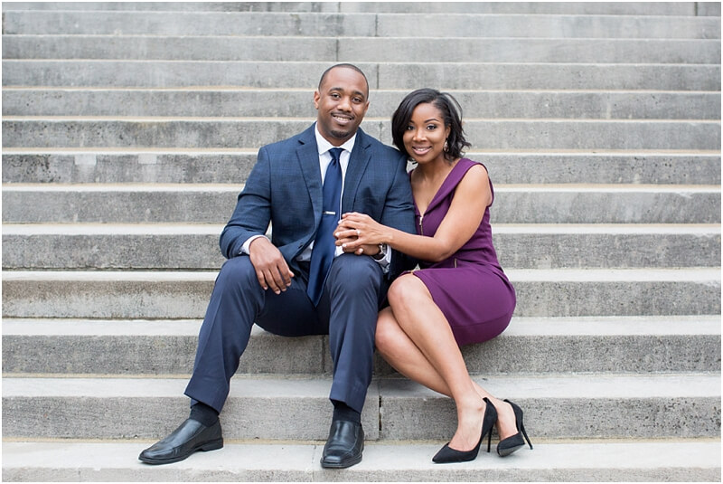 African American Engagement Photo Shoot