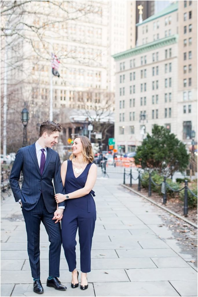 Engagement photo shoot in manhattan
