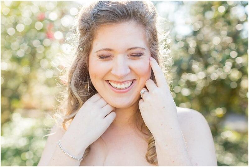 south carolina bride laughing