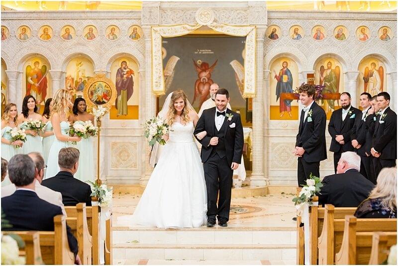 Greek church wedding South Carolina