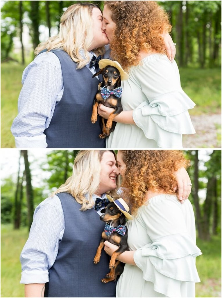 same-sex wedding photos with dog