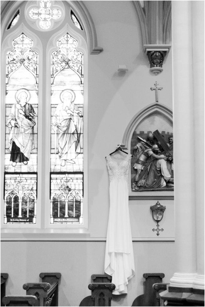 Basilica of St Peters Columbia South Carolina wedding photos wedding dress shot
