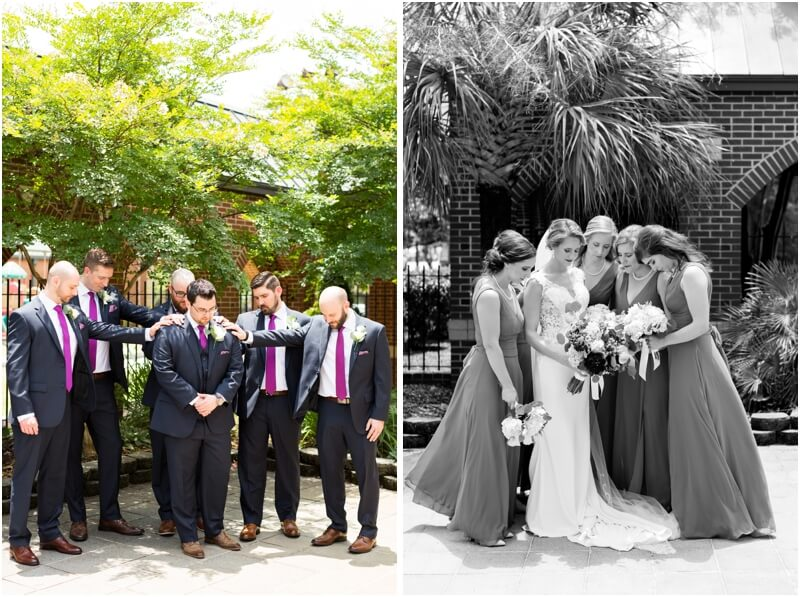 Basilica of St Peters south Carolina wedding photos Bridal Party wedding photos