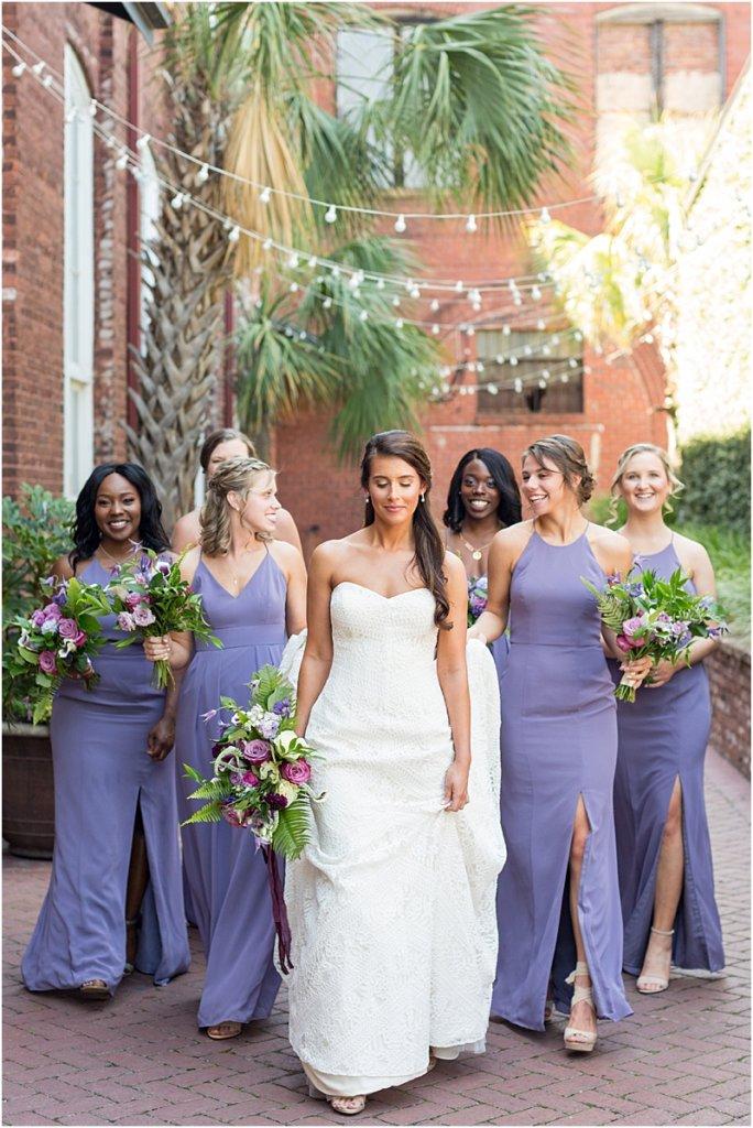 701 Whaley Wedding Photos Bridesmaids photos Purple bridesmaids dresses