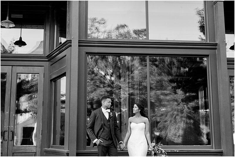 Downtown Columbia SC wedding photos 701 Whaley wedding photos black and white