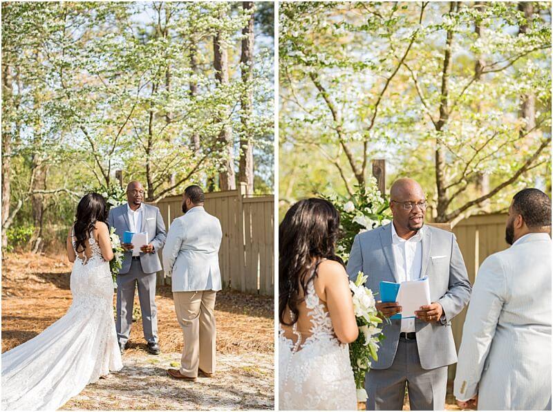 Columbia SC COVID Wedding: Alisha & Stephen's Backyard Wedding