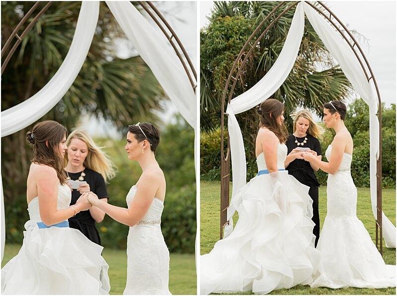 LGBTQ+ Citadel Beach Club Brides Exchange Rings