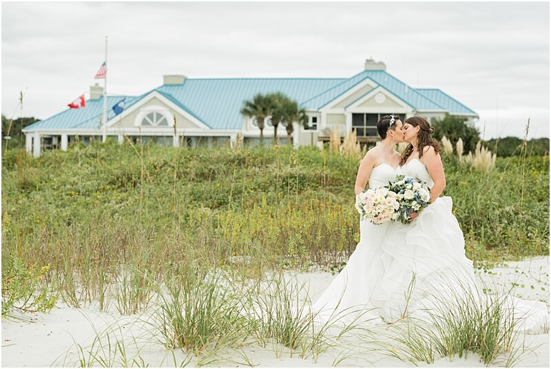 LGBTQ+ Citadel Beach Club Married Couple Portraits