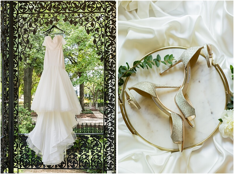 Columbia, SC Wedding Dress and Shoes at the Lace House at Arsenal Hill