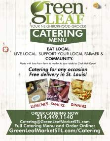 Large print poster for catering advertisement for GreenLeaf Market