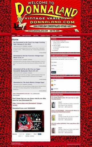 Estate sale and vintage website branding and design