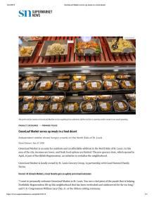 Article about GreenLeaf Market on SuperMarketNews