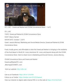 TV interview about GreenLeaf Market