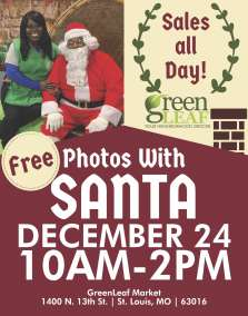 Pictures with Santa sign and event