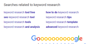 keyword research on Google