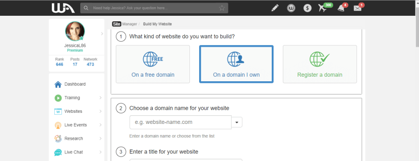 Use your domain