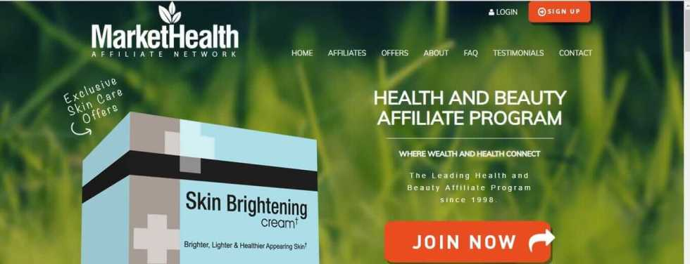 MarketHealth is mainly a health affiliate network