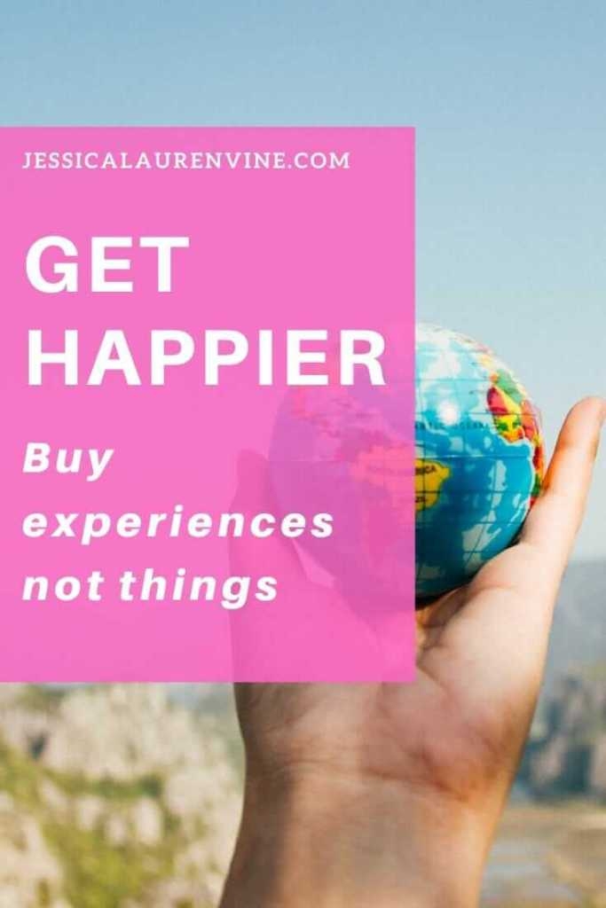 buying experiences not thing pinterest image