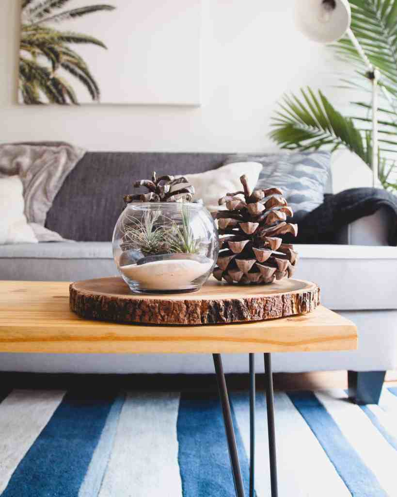 Add boho style to your home by adding natural elements