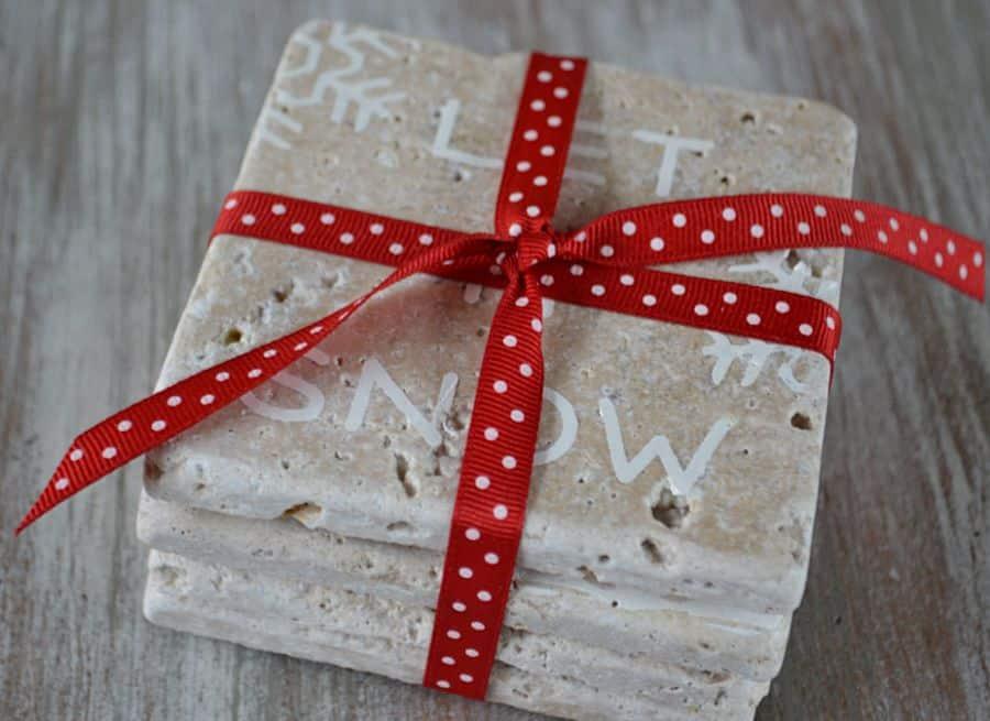 DIY Christmas Gifts DIY Coasters-1905Farmhouse