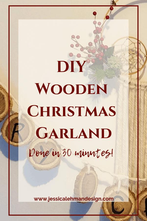 DIY Wooden Christmas Garland
