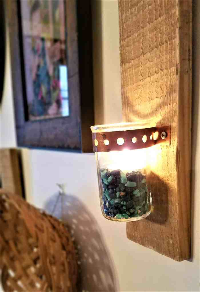 DIY candle holder gift view 2