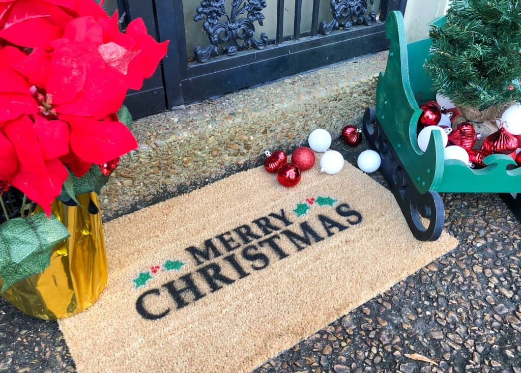 Outdoor Christmas Decorations Porch Mat- HealthHomeandHeart