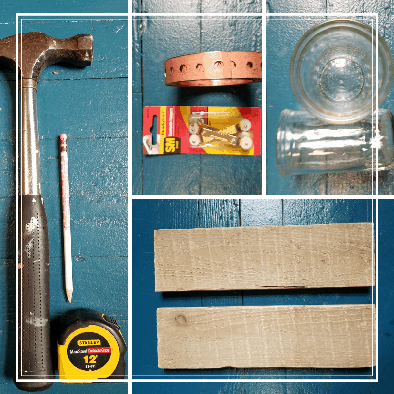 DIY candle holder gift-Tools needed