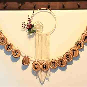 Wooden Christmas garland finished 2