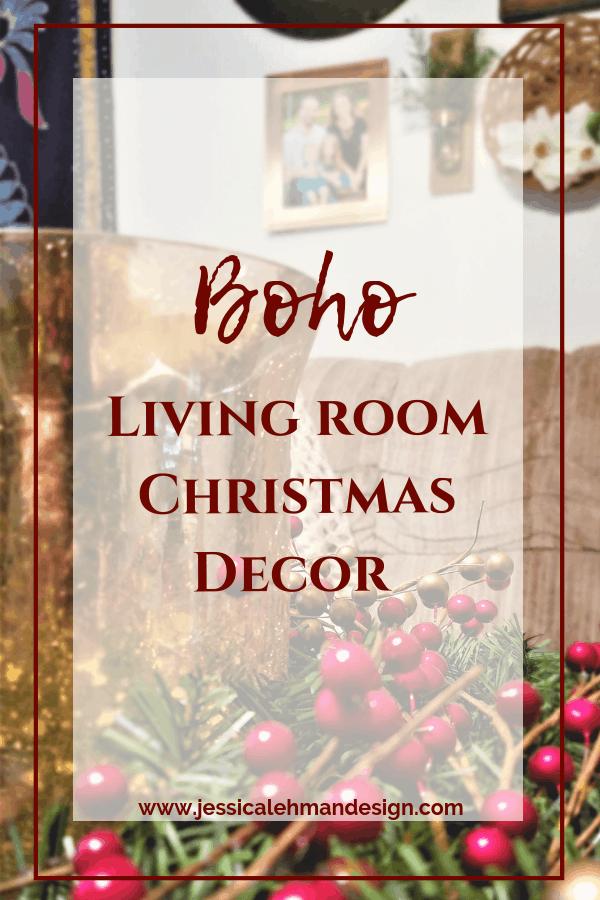Boho Living Room Christmas Decor 2