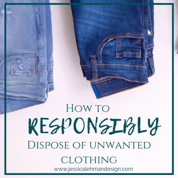 How to responsibly dispose of unwanted clothing