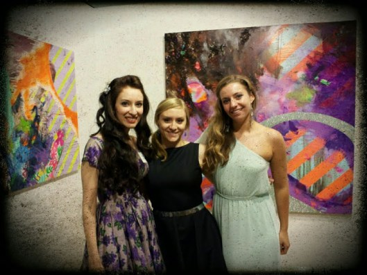 Artists Jessica Libor, Julianne Kelly, Holly Colagori at the Women's Preview Party at PAFA 2013