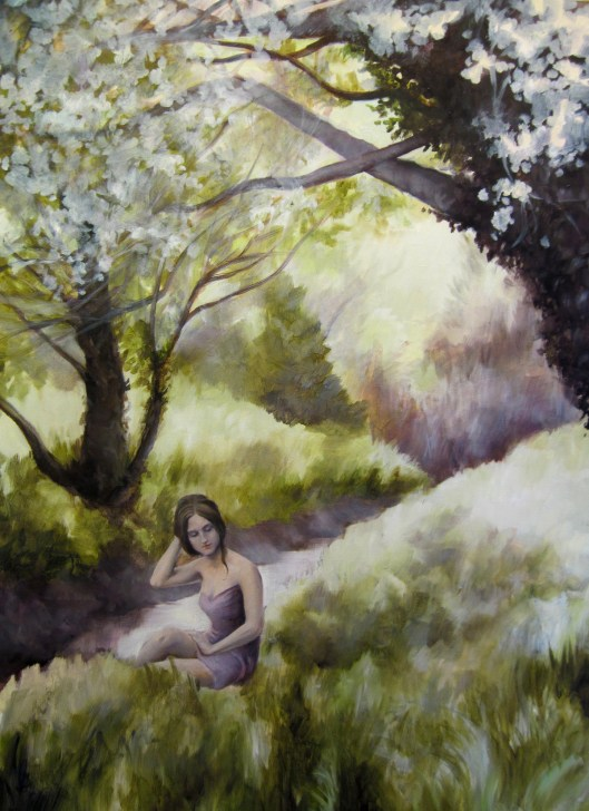 "Spring Idyll, oil on board, 18""x24"", Jessica Libor 2012"